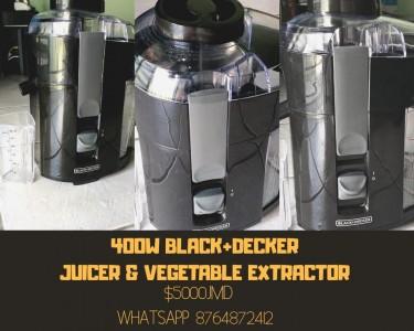 Black + Decker 400W Juicer