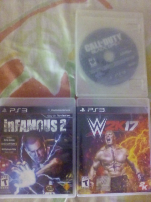 Ps3 CD On Sale Wwe2k17 4g Black Ops2 2k Infamus2g