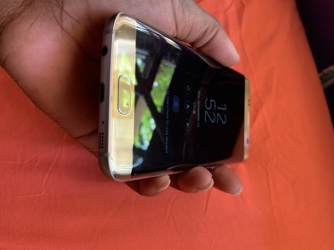 Samsung S7 Edge With Hairline Crack