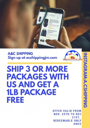 Online Shopping Made Easy With A&C Shipping.