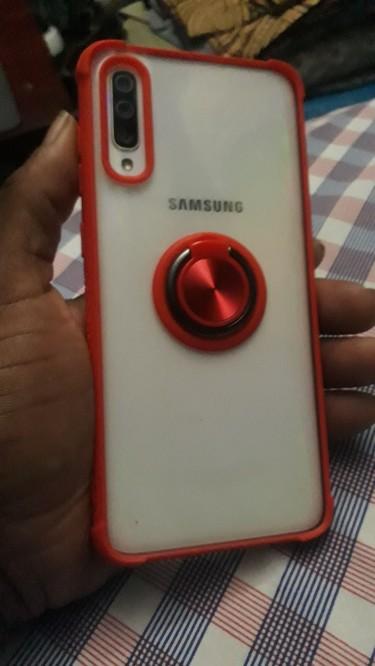 Galaxy A70.  White