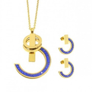 Stainless Steel Gucci Necklace And Earring Set