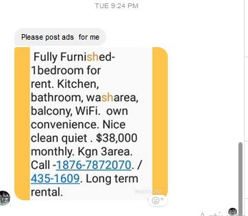 Fully Furnished 1 Bedroom Kitchen Bathroom