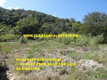1 1/3 ACRE FARM LAND FOR SALE