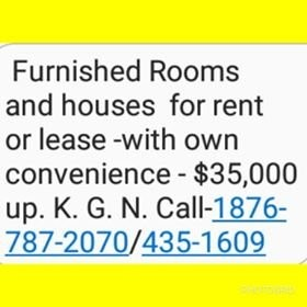 1 Bedroom Furnished For Rent Or Lease