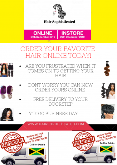 YOU CAN NOW ORDER YOUR HAIR ONLINE FREE DELIVERY!