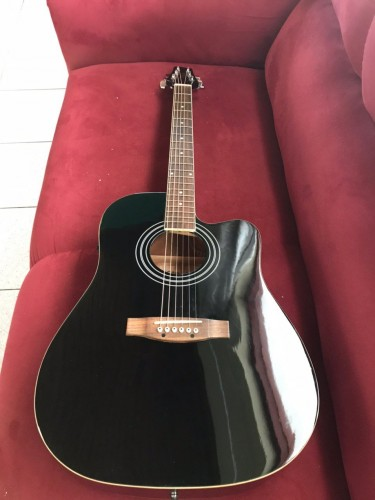 Stagg Cutaway Acoustic Electric Guitar (with Case)
