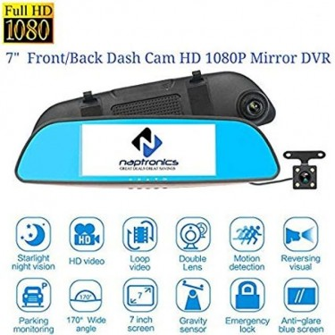 Dual Lens (Front And Rear) Car Camera DVR System