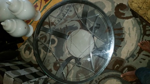 Glass Top Circular Table