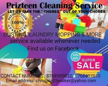 I Offer Cleaning Services
