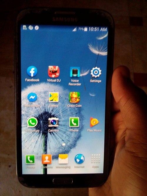 Samsung Galaxy Note 2 For Sale Fully Up Crack 11k