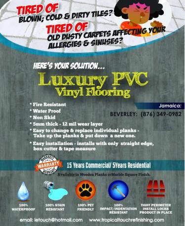 LUXURY PVC LOOSE LAY VINYL FLOORING Decorations FAIR PROSPECT