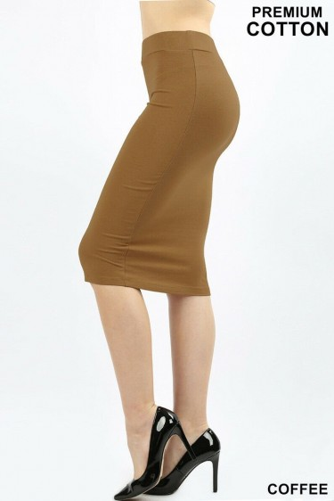 Coffee Colored Pencil Skirt