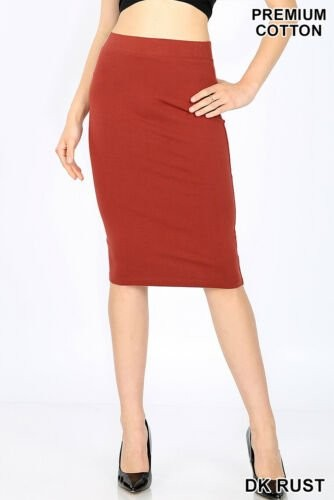 Rust Colored Pencil Skirt