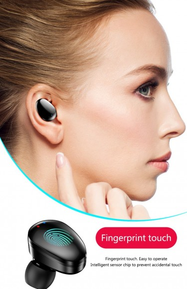 Bluetooth Headset Touch Waterproof Earphones