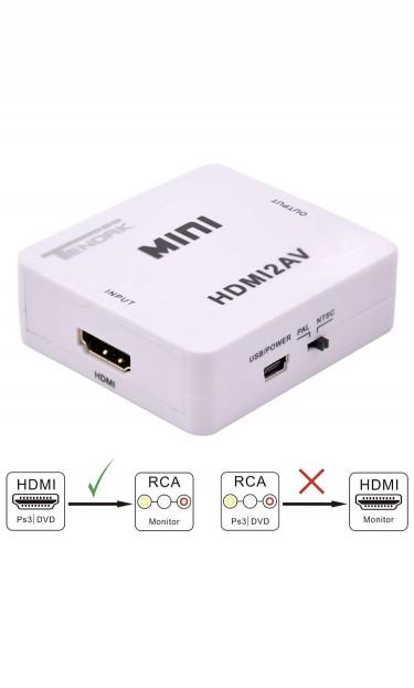 HDMI TO AV Adapter Converter Cable CVBS  3RCA 1080