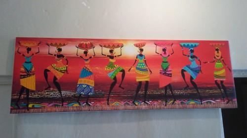 African Painting Frameless