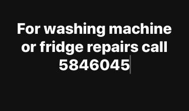 For Washing Machine Or Fridge Repairs