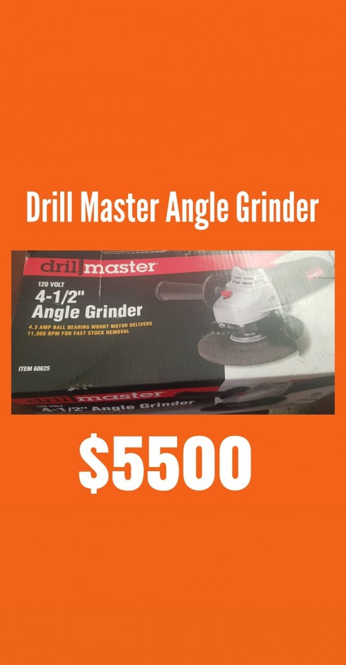 Brand New Drill Master Angle Grinder