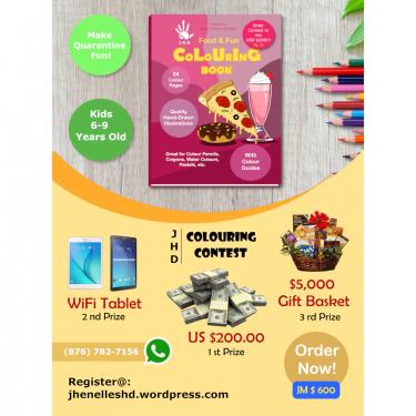 Order E-copy JM $350: Kids Colouring Contest! Other Market Halfway Tree Road