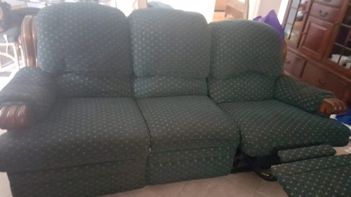 Three Seater Couch With Two Recliners