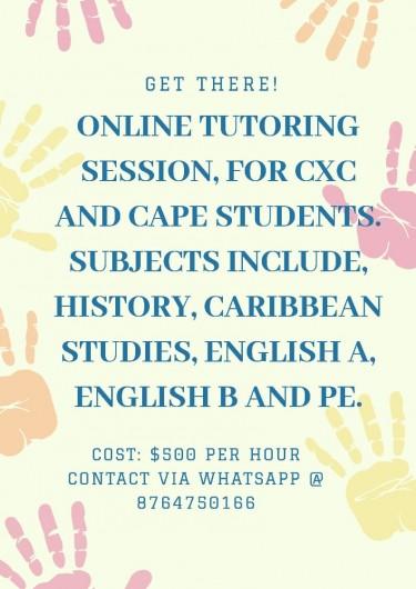 Online Tutoring CXC & CAPE