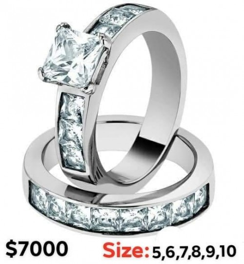 Wedding/ Engagement Ring Stainless Steel