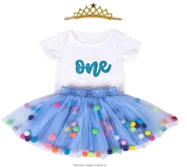 Baby Girls 1st Birthday Outfit