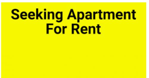 Seeking  1 Bedroom In Kingston And St. Andrew