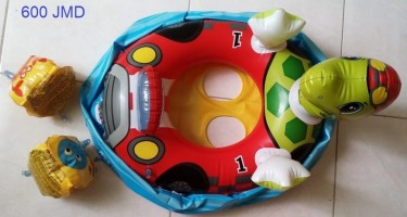 Toys And Swimming Ring And Turtle Boar