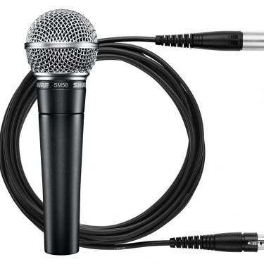 Shure SM58 Dynamic Microphone + Shure XLR Cable