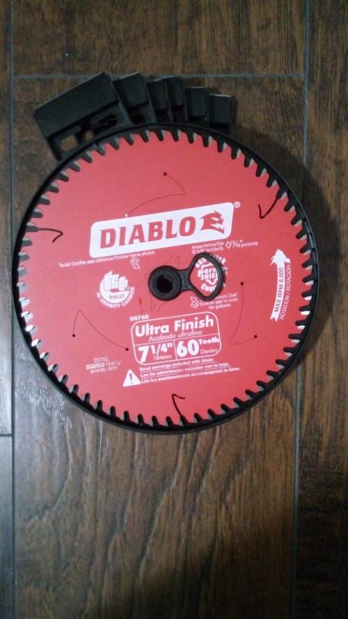 Diablo 7 1/4 Inch Circular Saw Blade 60 Teeth