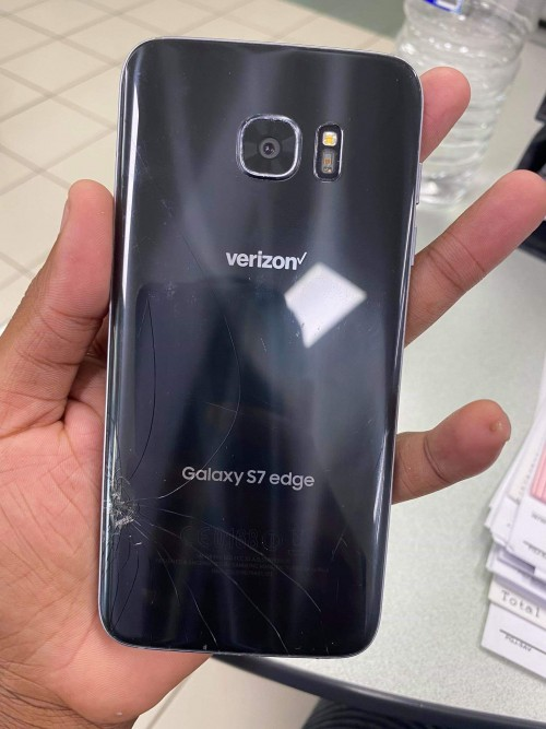 S7 Edge Cracked But Fully Functional