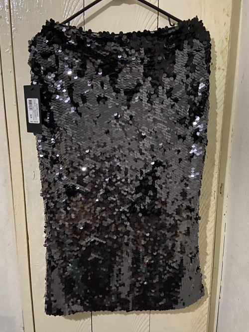 Brand New Black Size M Marciano Sequin Skirt