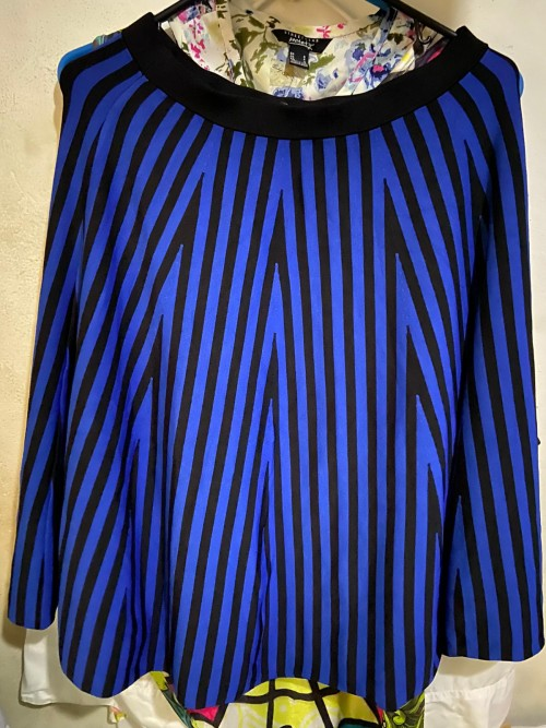 Brand New Blue/Black Stripe Size M Marciano Skirt