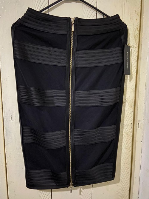 Brand New Black Marciano Skirt With Zip Back.