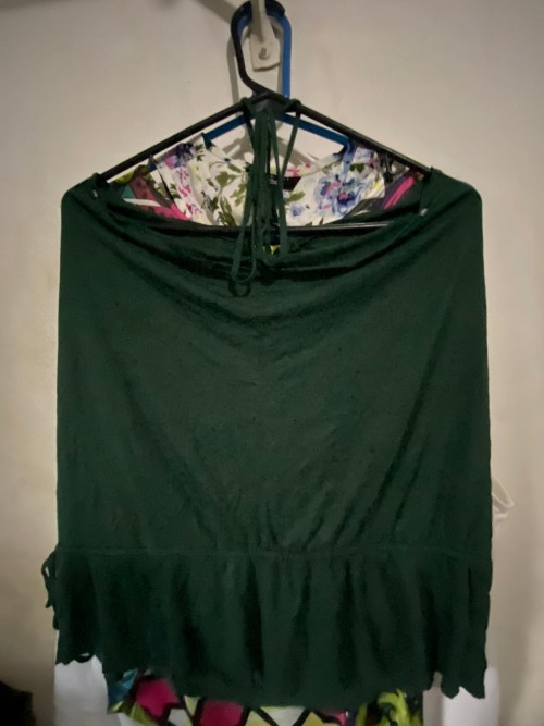 Size Large Green Top Blouse With Rhinestones.