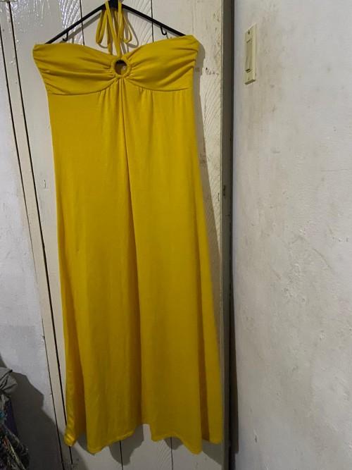 Size Large Long Yellow Dress.