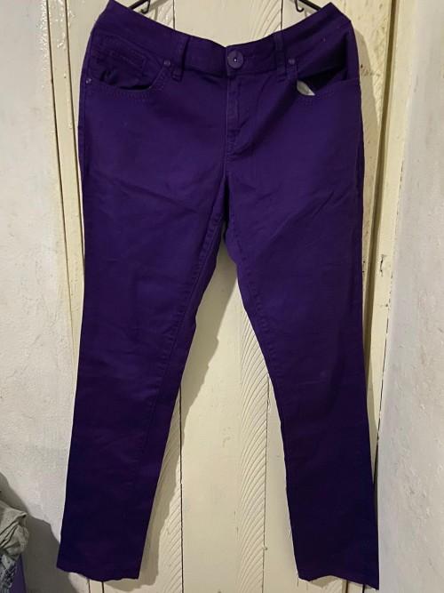 Purple Jeans Pants With Zip Back Pockets Size 15