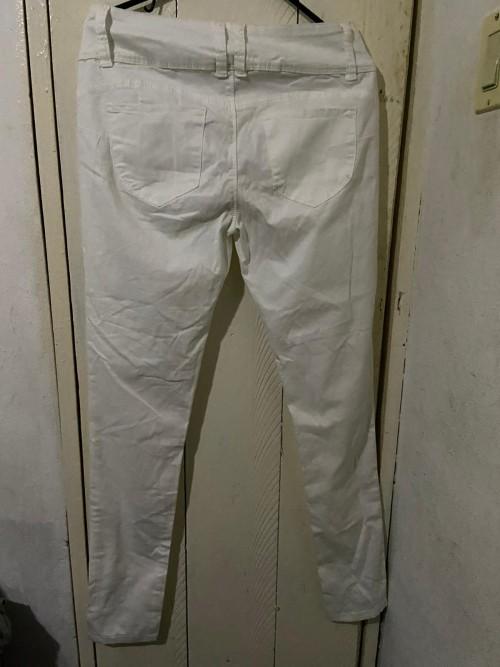 White Push Up Jeans Size Large 34