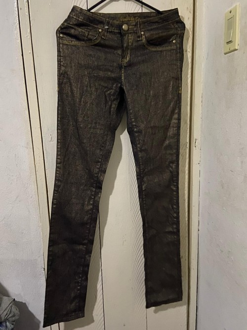Black And Gold Jeans Size 34 Small