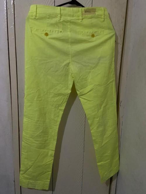 Lime Green Pants, Size (40) Medium
