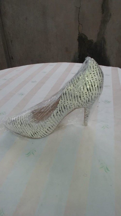 White And Black High Heels, Size 10