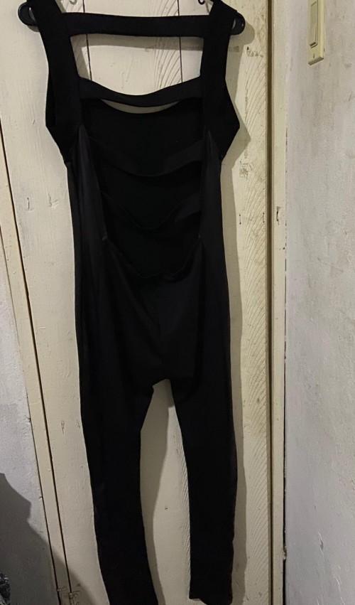Long Black Bodysuit, Size Large.