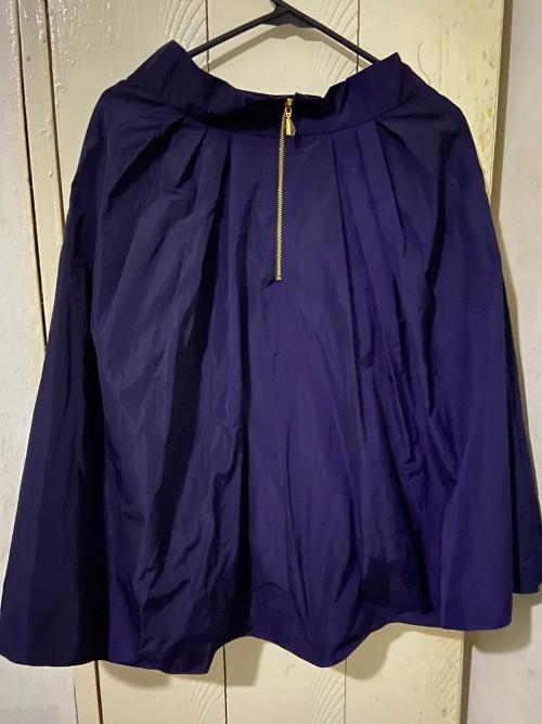 Purple Marciano Zip Back Skirt, Size 6