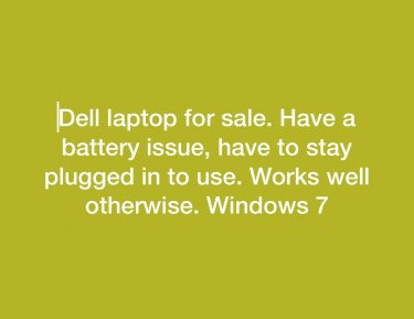 Dell Windows 7 Laptop. Have A Battery Issue,