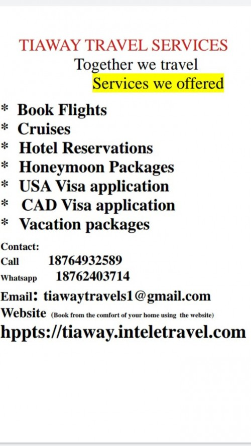 Flight, Cruises, Hotel Accommodation Packages