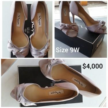 Silver Nina High Heels Shoes...SIZE 9W