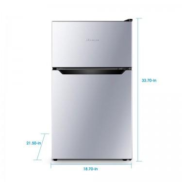 Hisense 3.2 Cu Ft Two Door Mini Fridge W/Freezer