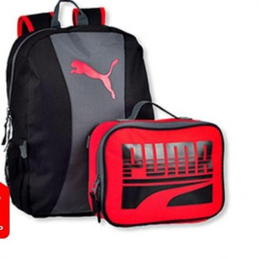 Puma Backpack And Lunch Bag